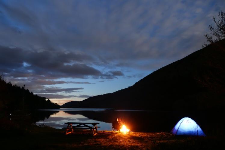 Loch Oich camping
