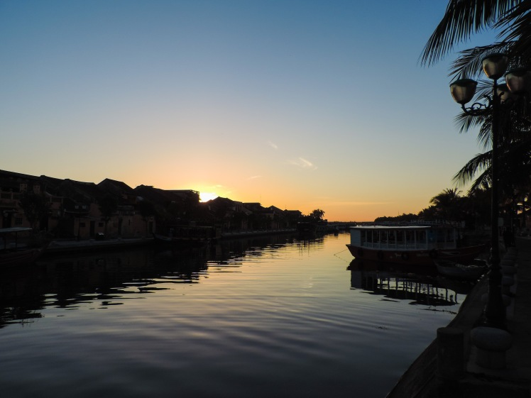 Sunrise riverfront Hoi An