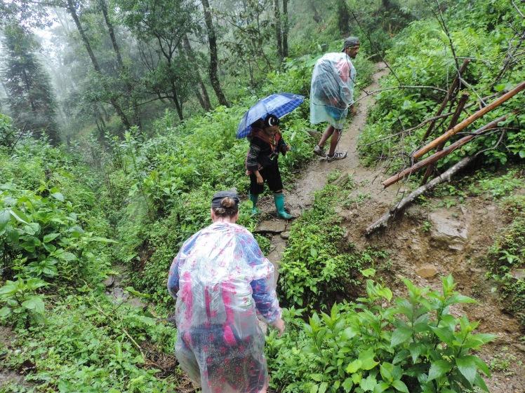 Trekking through the rain in Sa Pa.jpg